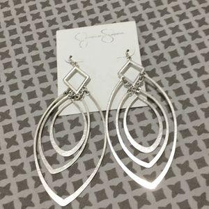 Jessica Simpson Silver Dangle Earrings